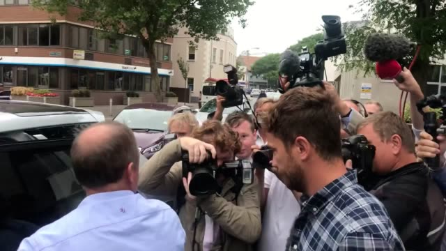 england rugby star danny cipriani has pleaded guilty at jersey magistrates' court to charges of common assault and resisting arrest following an... - 後を追う点の映像素材/bロール