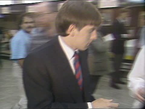 england soccer team leave for european championships; b) england: luton airport: int cms england player john barnes descends from coach followed by... - autographing stock videos & royalty-free footage