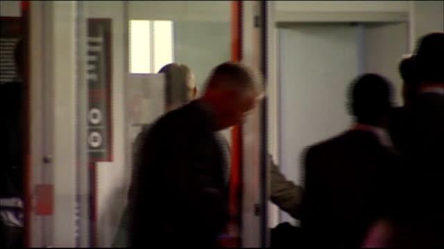 england team return home; england: london: gir: int brian glanville interview sot south africa: ext / evening england football squad away into... - fußballweltmeisterschaft 2010 stock-videos und b-roll-filmmaterial