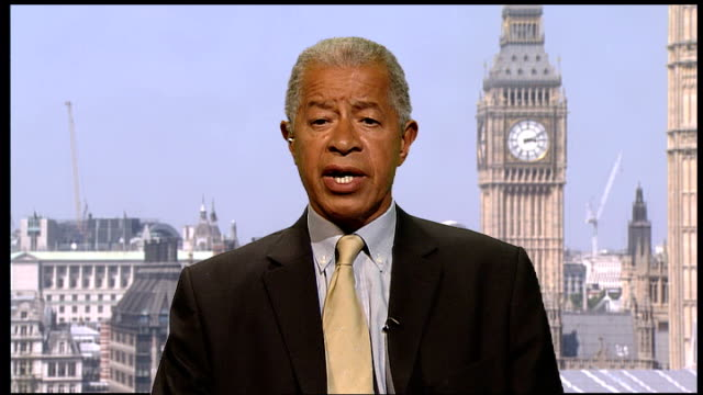 england team return home england london int herman ouseley interview sot - herman ouseley stock videos & royalty-free footage
