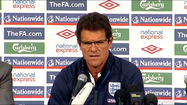 stockvideo's en b-roll-footage met england team return home; rustenberg: fabio capello press conference sot - all the english players are really tired in this competition / i spoke... - english football association