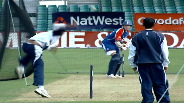 England team training Vars unidentified batsman in nets