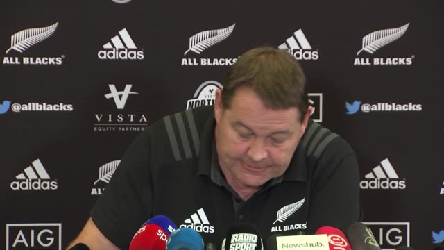 England to play New Zealand on home soil for the first time in four years UK Steve Hansen press conference / Eddie Jones playing with dog Annie on...