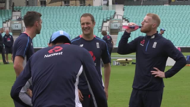 england train ahead of their final test match against india at the oval the host side are currently leading the series 31 - international match stock videos & royalty-free footage