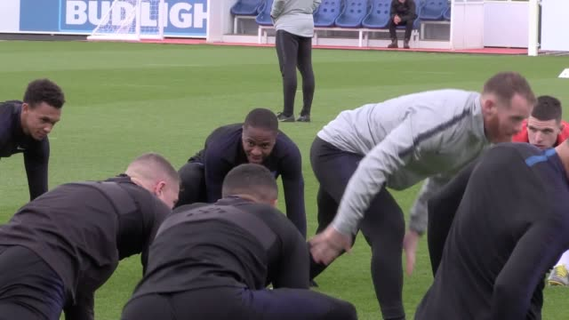 England train ahead of their Nations League game against Holland The two teams will play each other in Guimaraes Portugal on Thursday