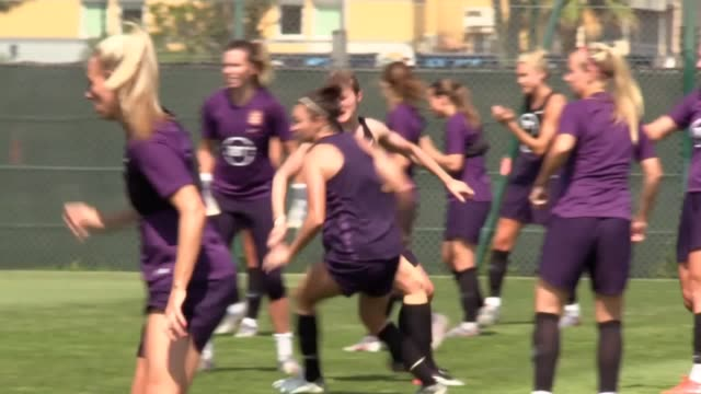 england train ahead of their women's world cup third place playoff against sweden at nice's allianz riviera stadium - oranje stock videos & royalty-free footage