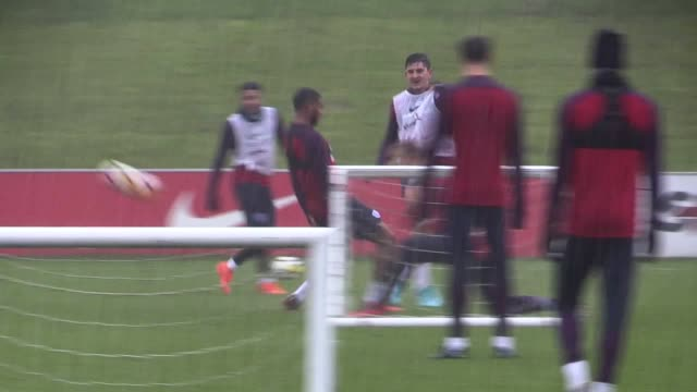 England train at St George's Park ahead of the upcoming friendlies against Germany and Brazil Includes shots of Tammy Abraham Joe Gomez Eric Dier...