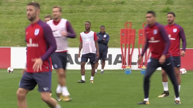 England train at St George's Park ahead of their 2018 World Cup qualifiers against Malta and Slovakia England top Group F with 14 points from six...