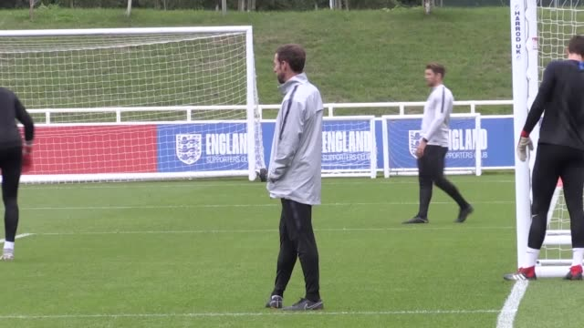 England train at St George's Park ahead of their forthcoming games against Spain and Switzerland The five players who played on Sunday did not take...