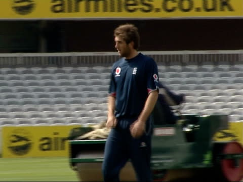 England training ahead of test series against West Indies ENGLAND London Lord's cricket ground EXT Unidentified England player along on field