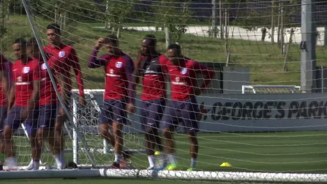 Staffordshire St George's Park EXT General views of England training session including Sam Allardyce and other England coaching staff Fraser Forster...