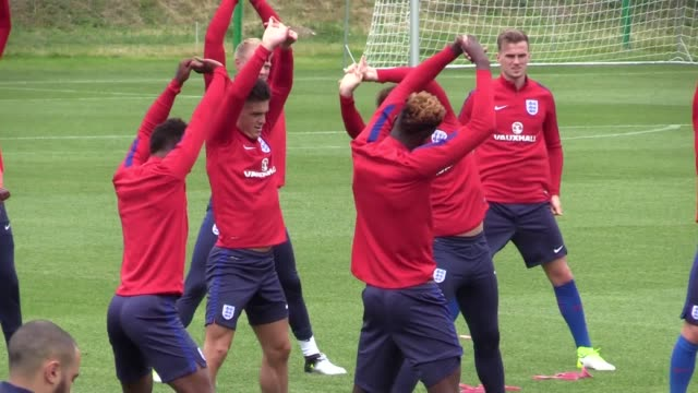 England U21s files have open training in Kielce ahead of their Euro 2017 clash with Sweden