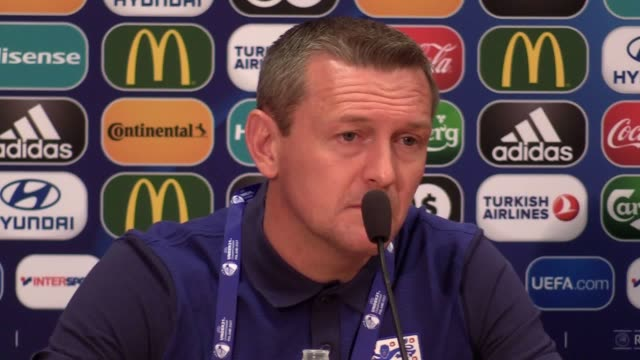England Under21 boss Aidy Boothroyd's prematch press conference ahead of their opening Euro 2017 match against holders Sweden in Kielce Poland on...