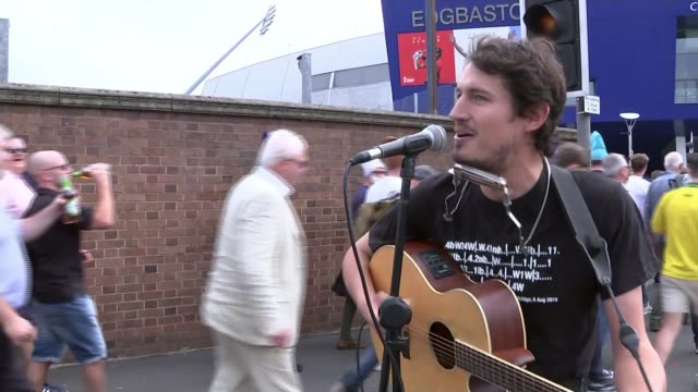 1st ashes test australia fight back after shaky start england birmingham edgbaston ext man playing guitar and singing sand the cricket ball down a... - shaky stock videos & royalty-free footage
