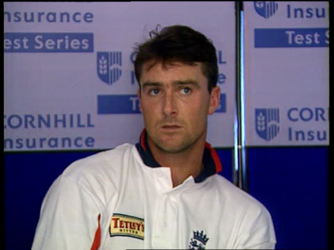 1st Test INT Graham Thorpe intvw While two of were in made it major part of innings/ its put us in the box seat