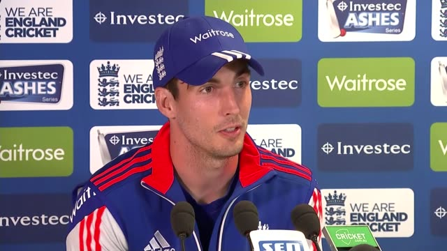 3rd ashes test day 2 int steven finn press conference sot - 2日目点の映像素材/bロール