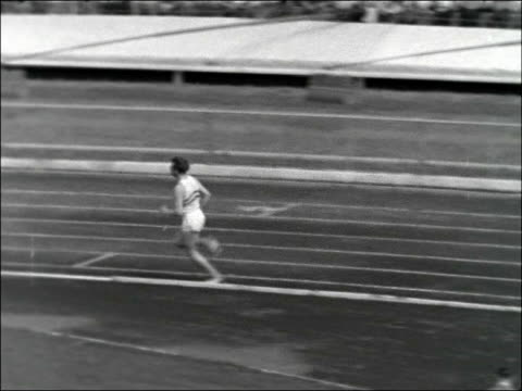 england v france at white city stadium england london white city stadium start to finish of womens 80metres hurdles / winner carole quinton / ms... - men's track stock videos and b-roll footage