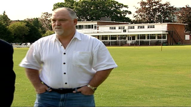 second test day 5 jellybean row mike gatting along with reporter mike gatting interview sot - day 5 stock videos and b-roll footage