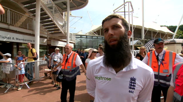 third test: day 5: england victory; moeen ali interview sot - day 5 stock videos & royalty-free footage