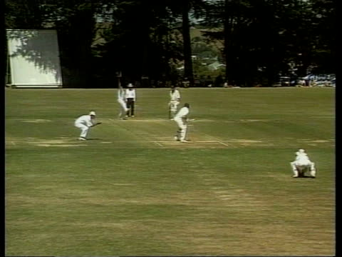 Wanganui BV Mike Atherton out for third ball duck Atherton off pitch