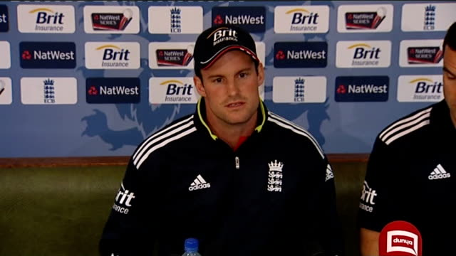 fourth one day international / corruption allegations int andrew strauss press conference sot we were absolutely outraged by the allegations which... - 数字の4点の映像素材/bロール