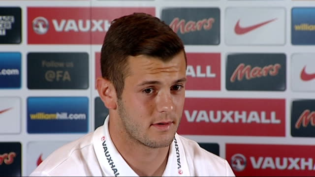 england v scotland friendly match preview int jack wilshere press conference sot on paul gascoigne goal gerrard press conference with wilshere beside... - ゴードン ストラハン点の映像素材/bロール
