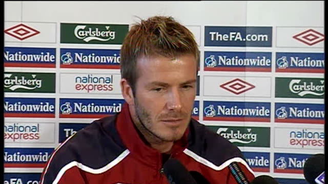 david beckham press conference david beckham press conference continued sot - slovakia stock videos & royalty-free footage