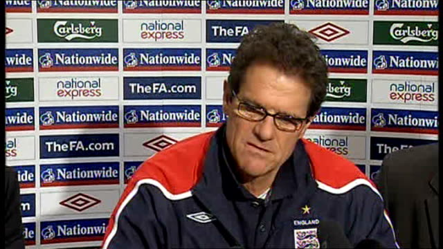 fabio capello press conference fabio capello press conference continues sot steven gerrard best position - slovakia stock videos & royalty-free footage