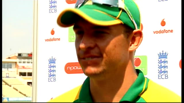 Andre Nel interview ENGLAND Birmingham Edgbaston EXT Andre Nel interview SOT Talks of prospects for the tird test match