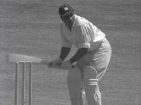second test first day england london lords ext may leads england out trevor bailey out bv england team onto field ms west indies open batsmen onto... - second test stock videos & royalty-free footage