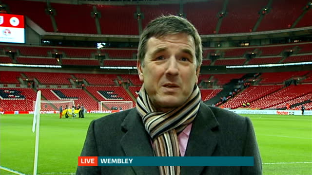England vs Germany international friendly preview Todd Waldock ENGLAND London Wembley Stadium Reporter to camera