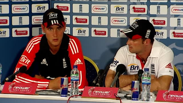 second test final day england win int stuart broad press conference sot played particularly well in last two test matches / won't rest on laurels... - last day stock videos & royalty-free footage