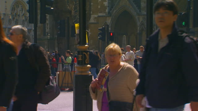 englandbusy street corner - pedestrian crossing stock videos & royalty-free footage
