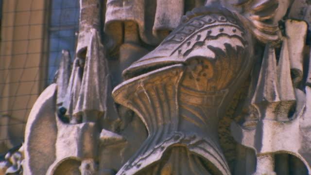EnglandCarved limestone wall (Knight)