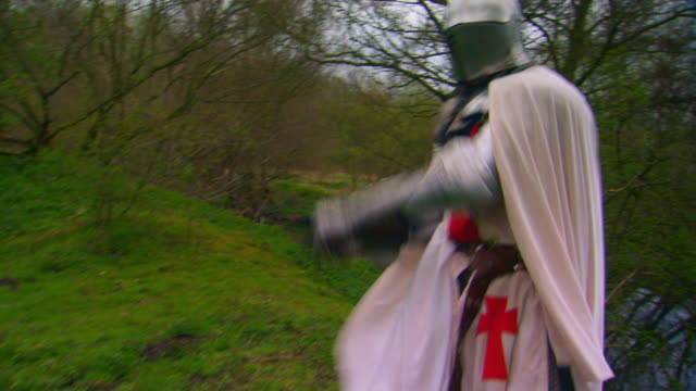 englandknight in battle/lots of movement - suit of armor stock videos and b-roll footage