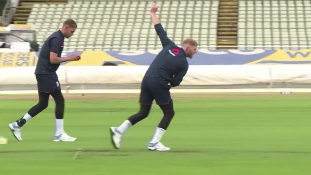 england's cricket team trains on the eve of the first test against australia while they look to round off an already memorable season by completing a... - ashes test stock videos & royalty-free footage