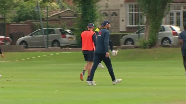 england's cricketers practice at edgbaston ahead of thursday's world cup semifinal against australia - thursday stock videos and b-roll footage