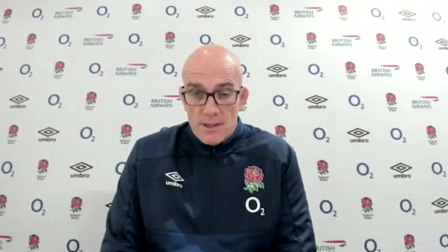 england's defence coach john mitchell said courtney lawes' ankle injury would give the squad an opportunity to develop new talent during its busy... - northampton england stock videos & royalty-free footage