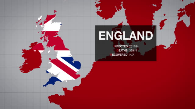 england's map of covid-19 expansion - two version. 4k - world politics stock videos & royalty-free footage
