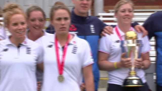 england's women told professional contracts will not be renewed as they prepare to defend the world cup london lord's cricket ground various of the... - aldershot stock videos & royalty-free footage