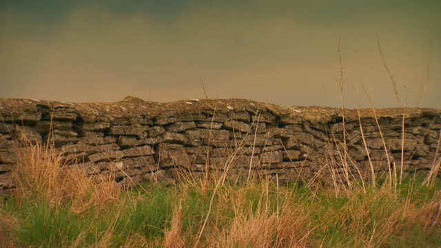 englandstone wall/fence close up - stone wall stock videos and b-roll footage