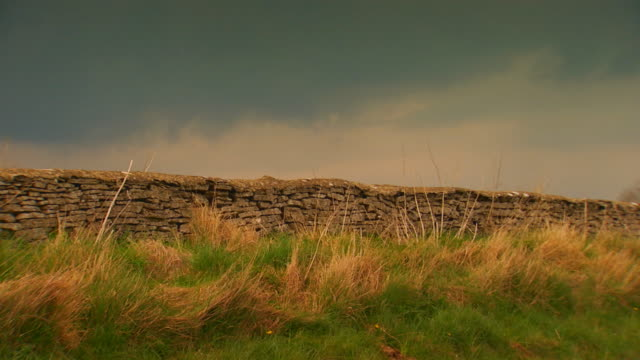 englandstone wall/fence - stone wall stock videos and b-roll footage