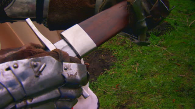 englandsword in wooden sheath - glove stock videos & royalty-free footage