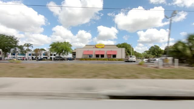 englewood florida i synced series right view driving process plate - passenger point of view stock videos & royalty-free footage