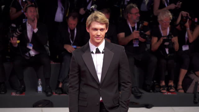 English actor Joe Alwyn shines on the red carpet of 'The Favourite' during the 75th Venice Film Festival on August 29 2018 in Venice Italy