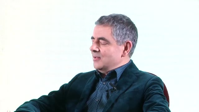 english actor rowan atkinson interviewed while having tea as he promotes his film 'johnny english strikes again' on november 1, 2018 in shanghai,... - rowan atkinson stock videos & royalty-free footage
