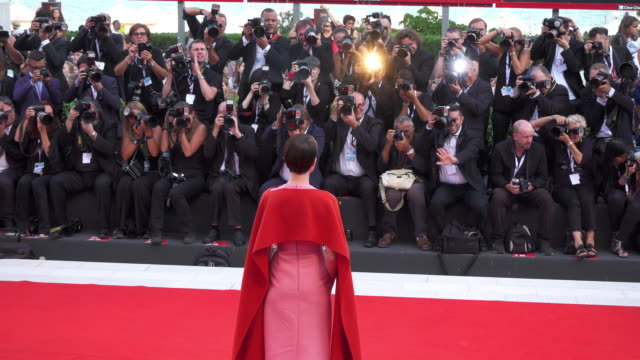 English actress Claire Foy shines on the red carpet of 'First Man' during the 75th Venice Film Festival on August 29 2018 in Venice Italy