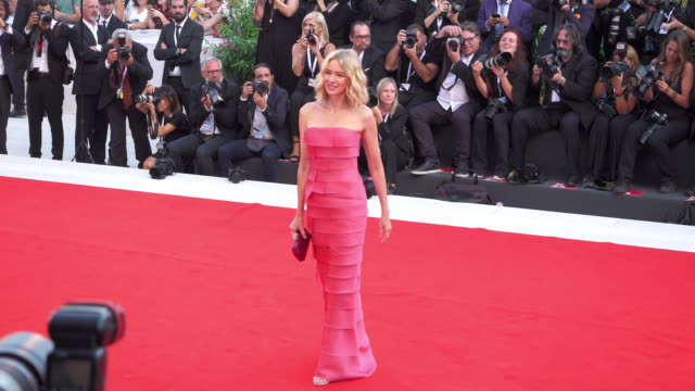 English actress Naomi Watts shines on the red carpet of 'First Man' during the 75th Venice Film Festival on August 29 2018 in Venice Italy