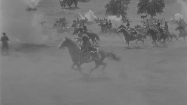 ms english and russian calvary attacking each other on horseback  - cavalry stock videos & royalty-free footage