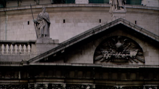 english baroque architecture characterizes st. paul`s cathedral in london. - carving craft product stock videos & royalty-free footage